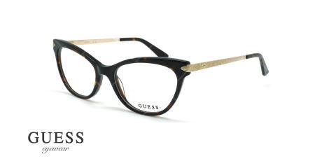 عینک طبی گربه ای گس - GUESS GU2683 - قهوه ای هاوانا - عکاسی وحدت - زاویه سه رخ