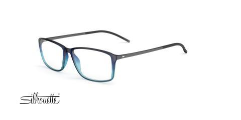 عینک طبی مستطیلی سیلوئت -2893 Silhouette SPX - مشکی آبی - عکاسی وحدت - زاویه سه رخ