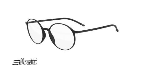 عینک طبی گرد سیلوئت -2901 Silhouette URBAN - مشکی - عکاسی وحدت - زاویه سه رخ