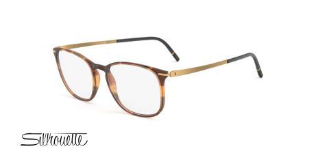 عینک طبی SPX سیلوئت - Silhouette SPX 2920- رنگ قهوه ای - عکاسی وحدت - عکس زاویه سه رخ