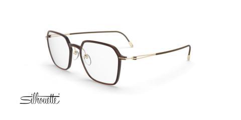 عینک طبی مربعی سیلوئت - 2927 Silhouette - قهوه ای - عکاسی وحدت - زاویه سه رخ