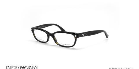 عینک طبی بیضی امپریو آرمانی - Emporio Armani EA9862 - مشکی هاوانا - عکاسی وحدت - زاویه سه رخ