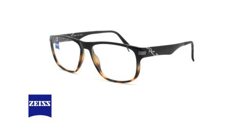 عینک طبی کائوچویی زایس  - ZAISS ZS20006 -رنگ مشکی قهوه ای - اپتیک وحدت - عکس زاویه سه رخ