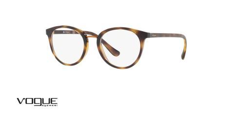 عینک طبی گرد وگ -  VOGUE VO5167 - رنگ قهوه ای هاوانا - عکاسی وحدت - عکس زاویه سه رخ