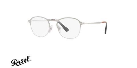 عینک طبی پرسول - PERSOL PO7007V - رنگ نقره ای - عکس زاویه سه رخ