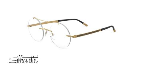 عینک طبی گرد گریف سیلوئت - Silhouette 5528GM - عکاسی وحدت - عکس زاویه سه رخ