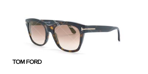 عینک آفتابی تام فورد - TOMFORD TF614 - عکاسی وحدت - عکس زاویه رخ