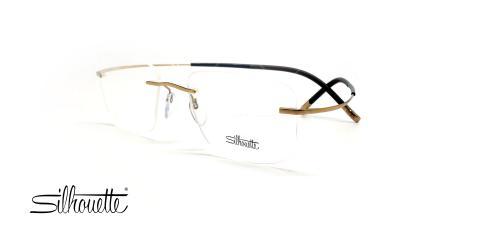 عینک گریف بدون لولا سیلوئت - Silhouette TMA 5299 -طلایی قهوه ای - عکس وحدت - زاویه سه رخ