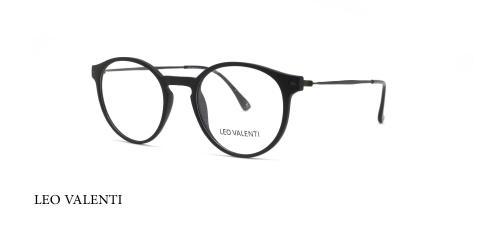 عینک طبی گرد لئوولنتی - LEO VALENTI LV455 - عکاسی وحدت - عکس زاویه سه رخ
