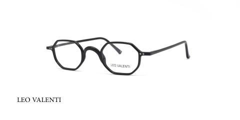 عینک طبی کائوچویی چند ضلعی لئوولنتی - LEO VALENTI LV542- عکاسی وحدت - عکس زاویه سه رخ
