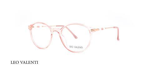 عینک طبی کائوچویی گرد لئوولنتی - LEO VALENTI LV559 - عکاسی وحدت - عکس زاویه سه رخ