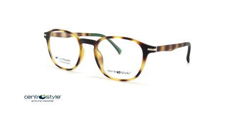 عینک طبی رویه دار سنترواستایل سازگار با محیط زیست - Centrostyle NEYETURE F0288 - عکس از زاویه سه رخ