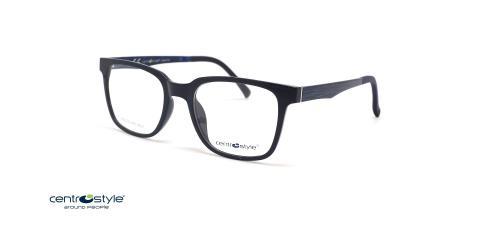 عینک طبی کائوچویی مشکی با رویه آفتابی سنترو استایل- عکاسی وحدت - عکس از زاویه سه رخ