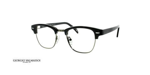 عینک طبی کلاب مستر جورجیو والماسو فریم مشکی - عکس از زاویه سه رخ