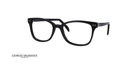 عینک طبی کائوچویی فریم مستطیلی مشکی جورجویو والماسو- عکس از زاویه سه رخ