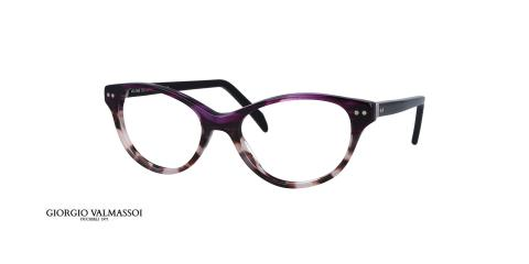 عینک طبی کائوچویی گربه ای جورجیو والماسو بنفش هاوانا - عکس از زاویه سه رخ