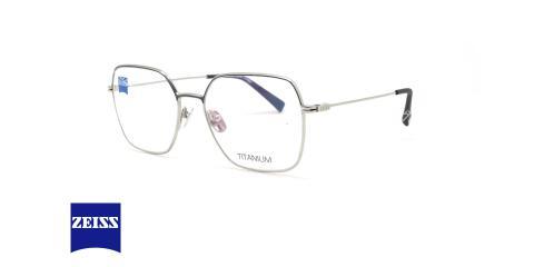 عینک طبی تیتانیومی زایس ZEISS ZS30021 - نقره ای - عکاسی وحدت - زاویه سه رخ