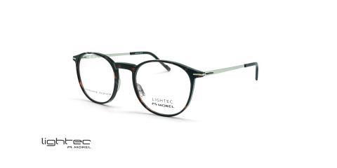 عینک طبی گرد لایتک -  LIGHTEC 30106L - عکاسی وحدت - قهوه ای هاوانا - عکس زاویه سه رخ