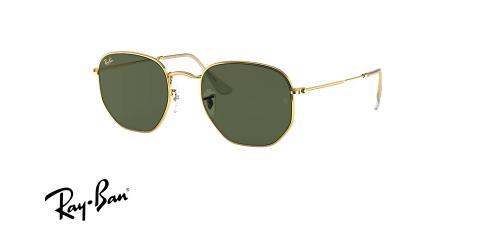 عینک آفتابی چند ضلعی ری بن -  Ray ban HEXAGONAL RB3548 - عکس از زاویه سه رخ