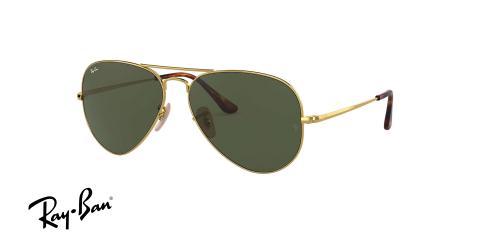 عینک آفتابی طرح خلبانی Ray-Ban بدنه طلایی شیشه سبز کلاسیک G15