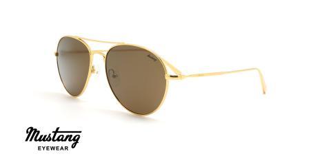 عینک آفتابی خلبانی موستانگ - MUSTANG MU1794 - طلایی - عکاسی وحدت - زاویه سه رخ