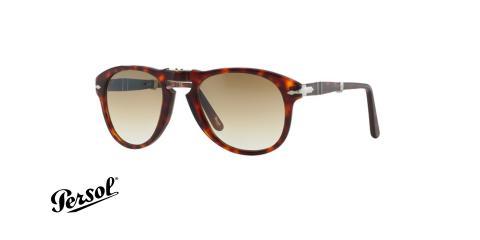 عینک آفتابی steve McQueen - تاشو - قهوه ای هاوانا - عدسی قهوه ای طیف دار - زاویه سه رخ