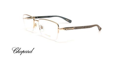 عینک طبی زیر گریف دسته چوبی شوپارد - CHOPARD VCHB54 - عکاسی وحدت - عکس زاویه سه رخ