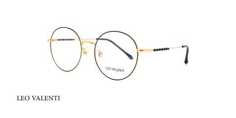 عینک طبی گرد لئو ولنتی - LEOVALENTI LV471 - عکاسی وحدت - عکس زاویه سه رخ