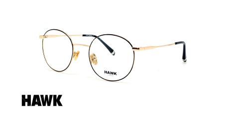 عینک طبی فلزی هاک - HAWK HW 7233 - عینک وحدت - عکس زاویه سه رخ
