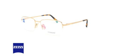 عینک طبی زیرگریف زایس - ZEISS ZS40009 - طلایی - عکاسی وحدت - زاویه سه رخ