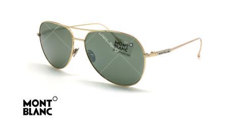 عینک آفتابی خلبانی مون بلان - MONTBLANC TITANIUM MB657S - طلایی - عکاسی وحدت - زاویه سه رخ