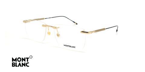عینک طبی گریف مون بلان - MONTBLANC MB0049O - طلایی - عکاسی وحدت - زاویه سه رخ