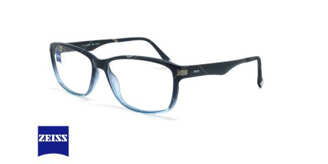 عینک طبی کائوچویی زایس ZEISS ZS10003 - آبی مشکی - عکاسی وحدت - زاویه سه رخ