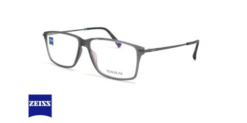 عینک طبی تیتانیوم زایس ZEISS ZS20010 - طوسی - عکاسی وحدت - زاویه سه رخ