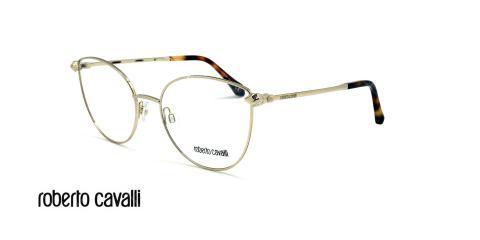عینک طبی گربه ای روبرتو کاوالی - ROBERTO CAVALLI LUCIGNENO RC5065 - نقره ای - عکاسی وحدت - زاویه سه رخ