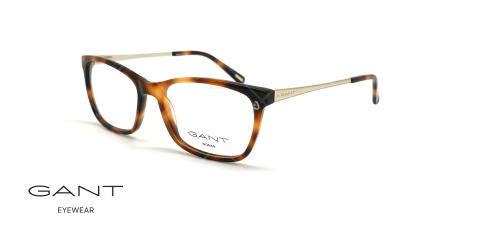 عینک طبی گربه ای گانت -GANT GA4083 - قهوه ای هاوانا - عکاسی وحدت - زاویه سه رخ
