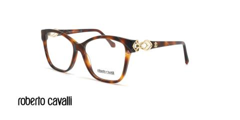 عینک طبی پروانه ای روبرتو کاوالی - ROBERTO CAVALLI RC5063  - قهوه ای هاوانا - عکاسی وحدت - زاویه سه رخ