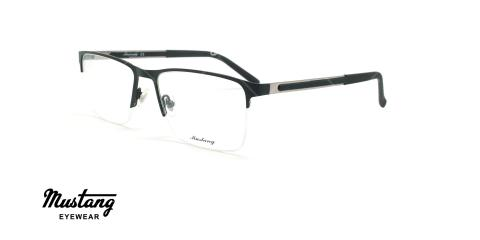 عینک طبی زیرگریف موستانگ - MUSTANG MU6741 - مشکی - عکاسی وحدت - زاویه سه رخ