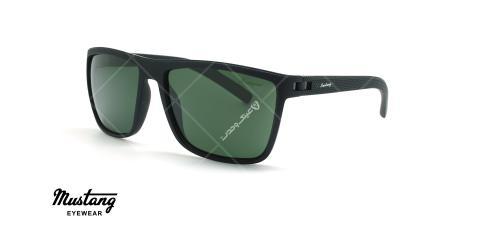 عینک آفتابی مستطیلی موستانگ - MUSTANG MU1733 - مشکی - عکاسی وحدت - زاویه سه رخ