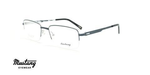 عینک طبی زیرگریف موستانگ - MUSTANG MU6765 - مشکی - عکاسی وحدت - زاویه سه رخ