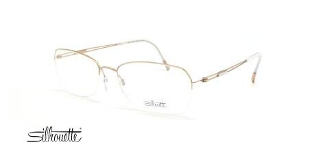 عینک طبی زیر گریف سیلوئت - 4337 Silhouette Tng Nylor - طلایی - عکاسی وحدت - زاویه سه رخ
