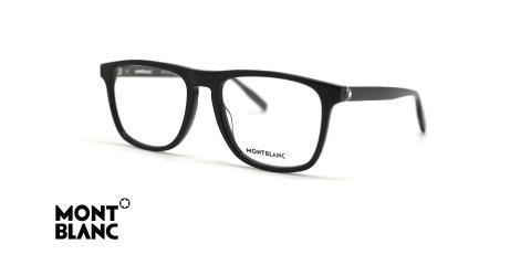 عینک طبی کائوچویی مون بلان مشکی رنگ - زاویه سه رخ