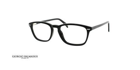 عینک طبی کائوچویی مستطییلی جورجیو والماسو مشکی - عکس از زاویه سه رخ