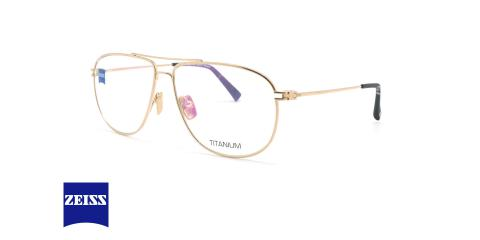 عینک طبی خلبانی زایس ZEISS ZS40023 - شامپاینی - عکاسی وحدت - زاویه روبرو