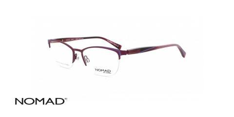 عینک طبی نماد - زیرگریف بنفش صورتی - زاویه سه رخ