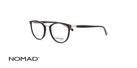 عینک طبی کائوچویی مشکی نوماد - زاویه سه رخ