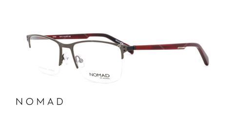 عینک طبی زیرگریف نوماد - اپتیک وحدت - عکس از زاویه سه رخ