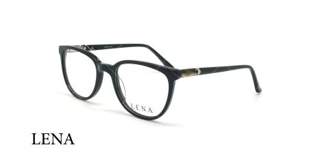 عینک طبی بیضی لنا - LENA LE429 - مشکی مات - عکاسی وحدت - زاویه سه رخ