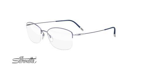 عینک طبی زیرگریف سیلوئت -4551 Silhouette titan - آبی نقره ای - عکاسی وحدت - زاویه سه رخ