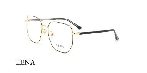 عینک طبی مربعی لنا - LENA LE499 - مشکی طلایی - عکاسی وحدت _ زاویه سه رخ